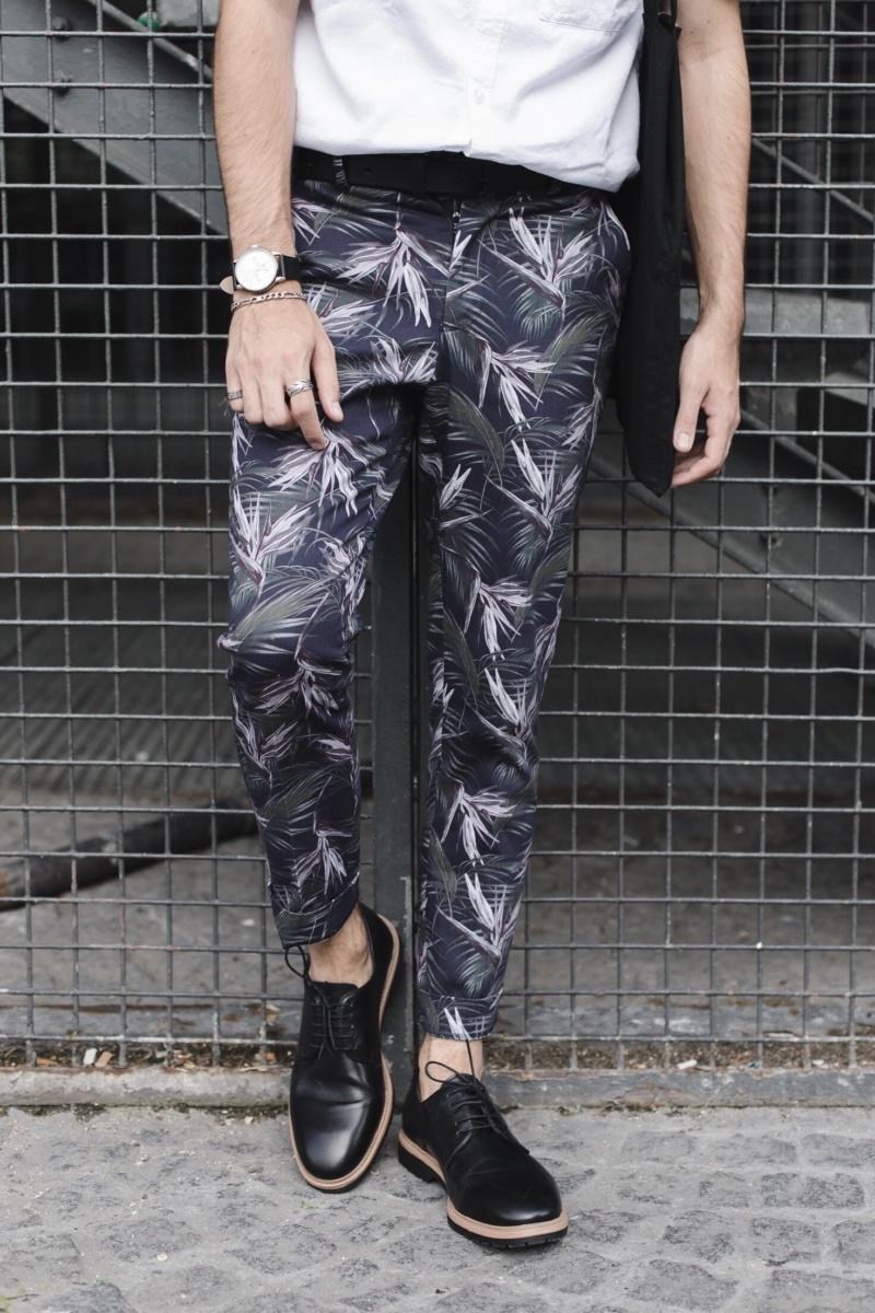 Pantalon motifs palmiers homme