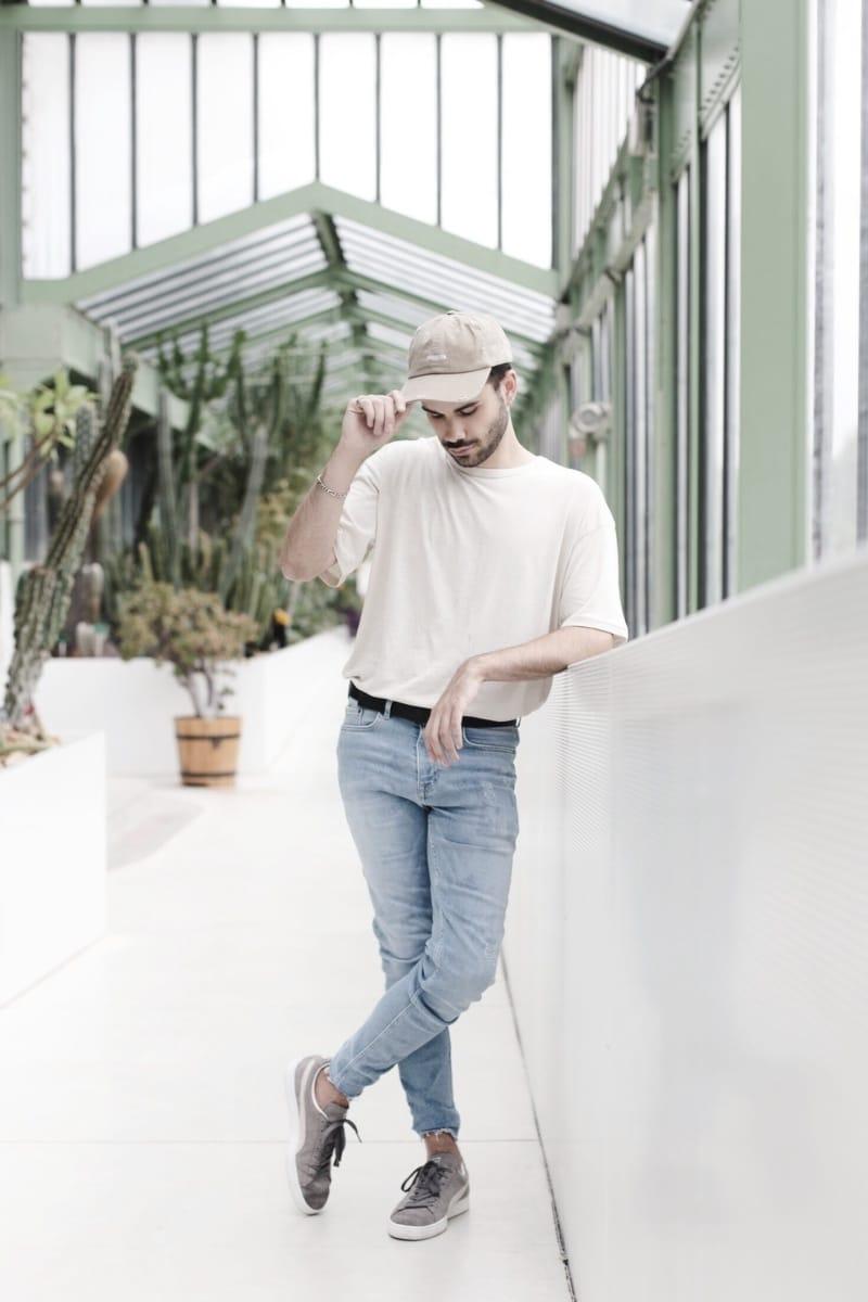 casquette-brooklyn-look-homme-beige-influenceur-puma-suede