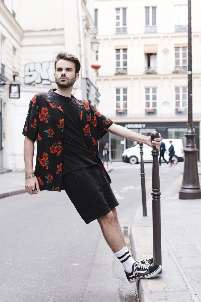 chemise roses street homme vans