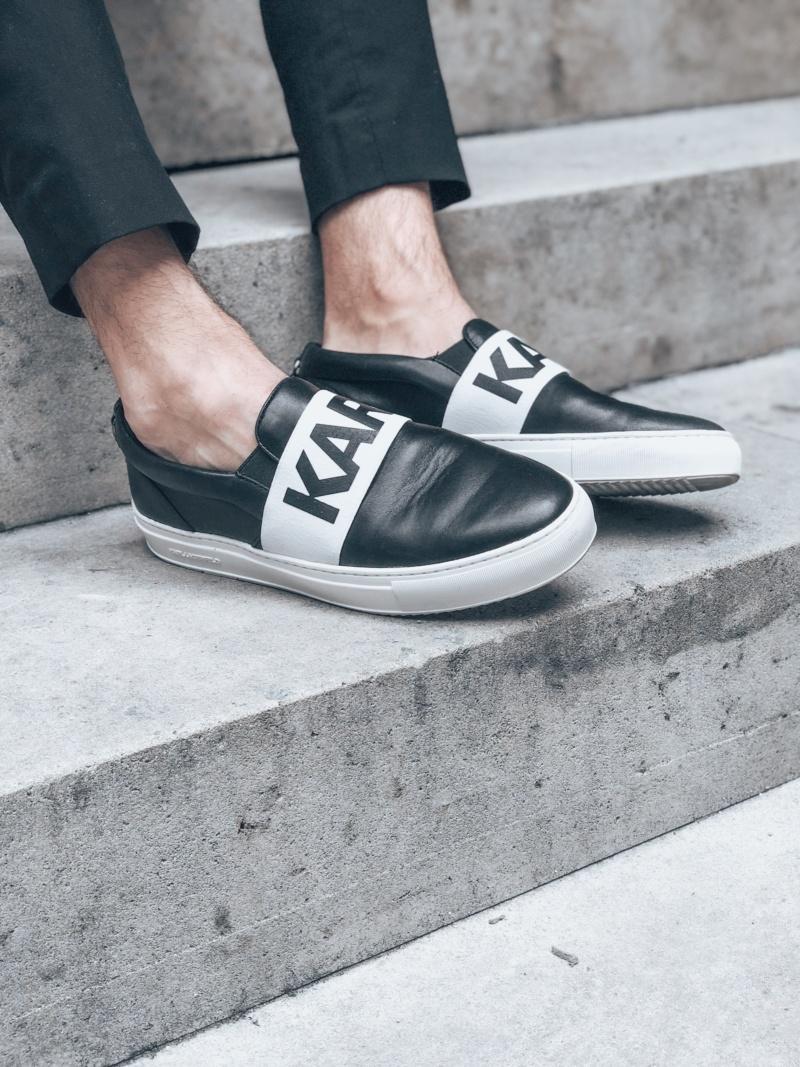 Karl Lagerfeld slip on chaussures