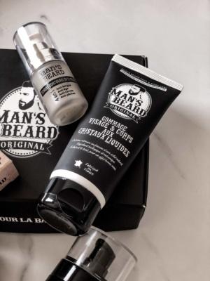 Mans beard barbe soins gommage cristaux avis
