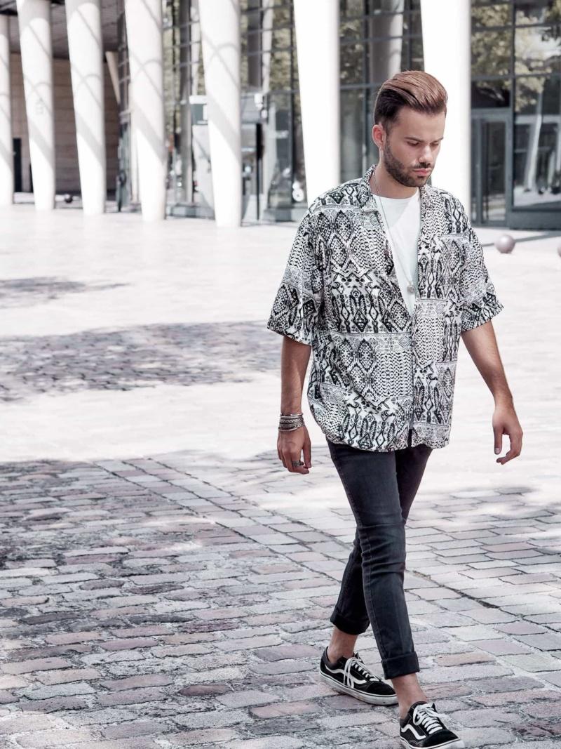 chemise motif azteque homme mode