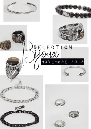 Selection bijoux homme novembre 2018