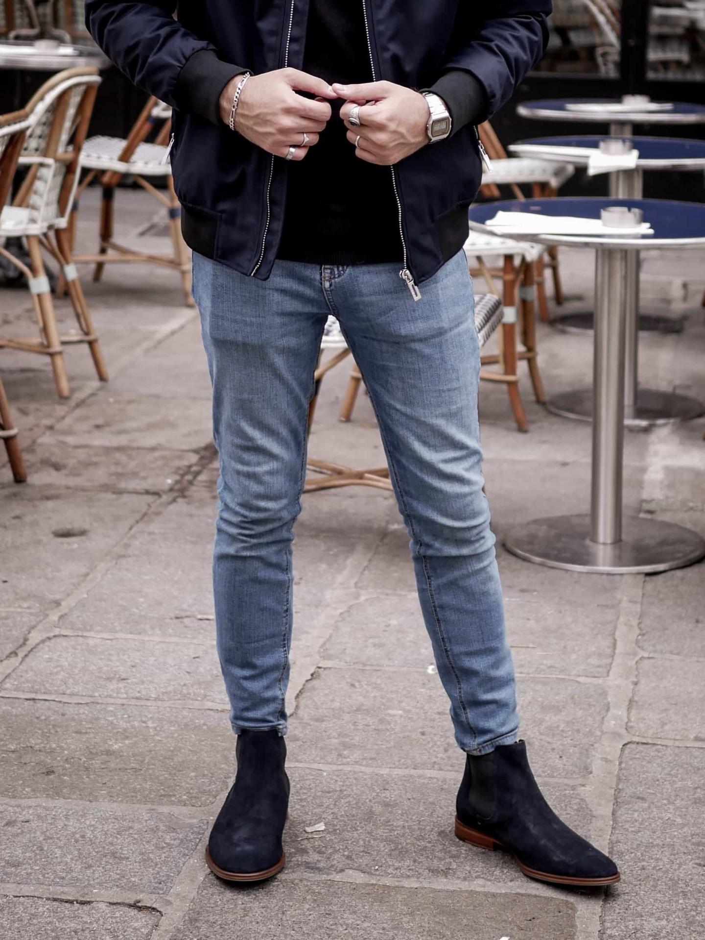 skinny chelsea bleue izac