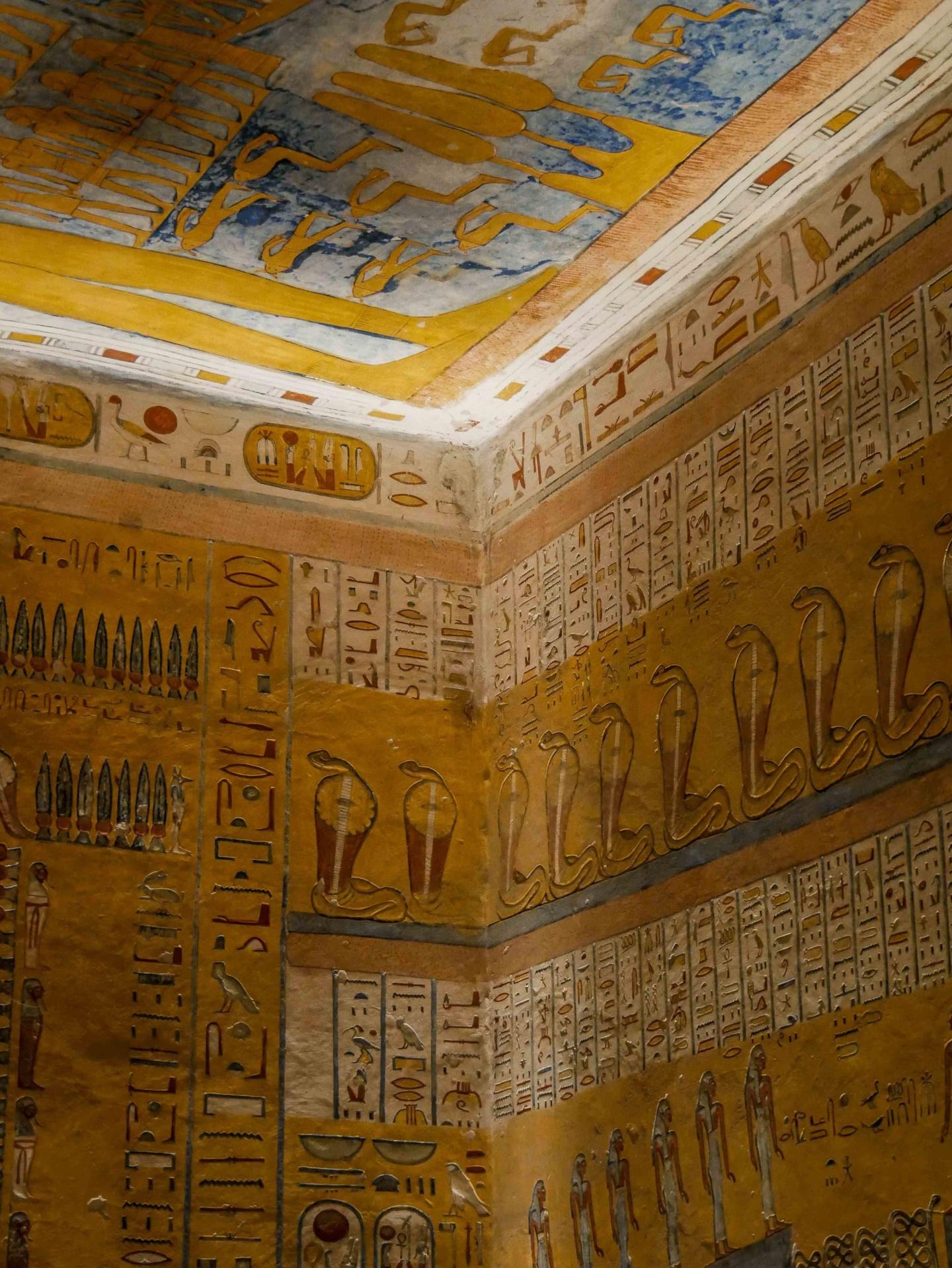 vallée des rois tombeau intérieur