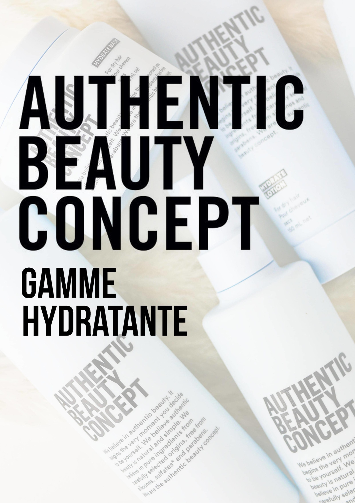 gamme hydratante authentic beauty concept