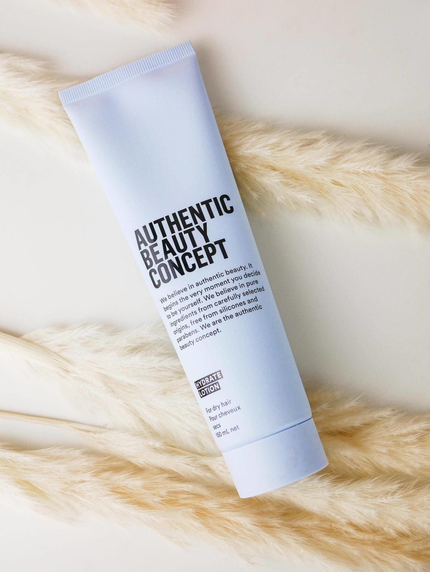lotion hydratante authentic beauty concept