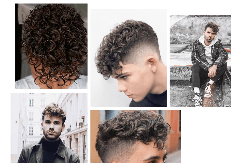 permanente pour homme cheveux bouclés