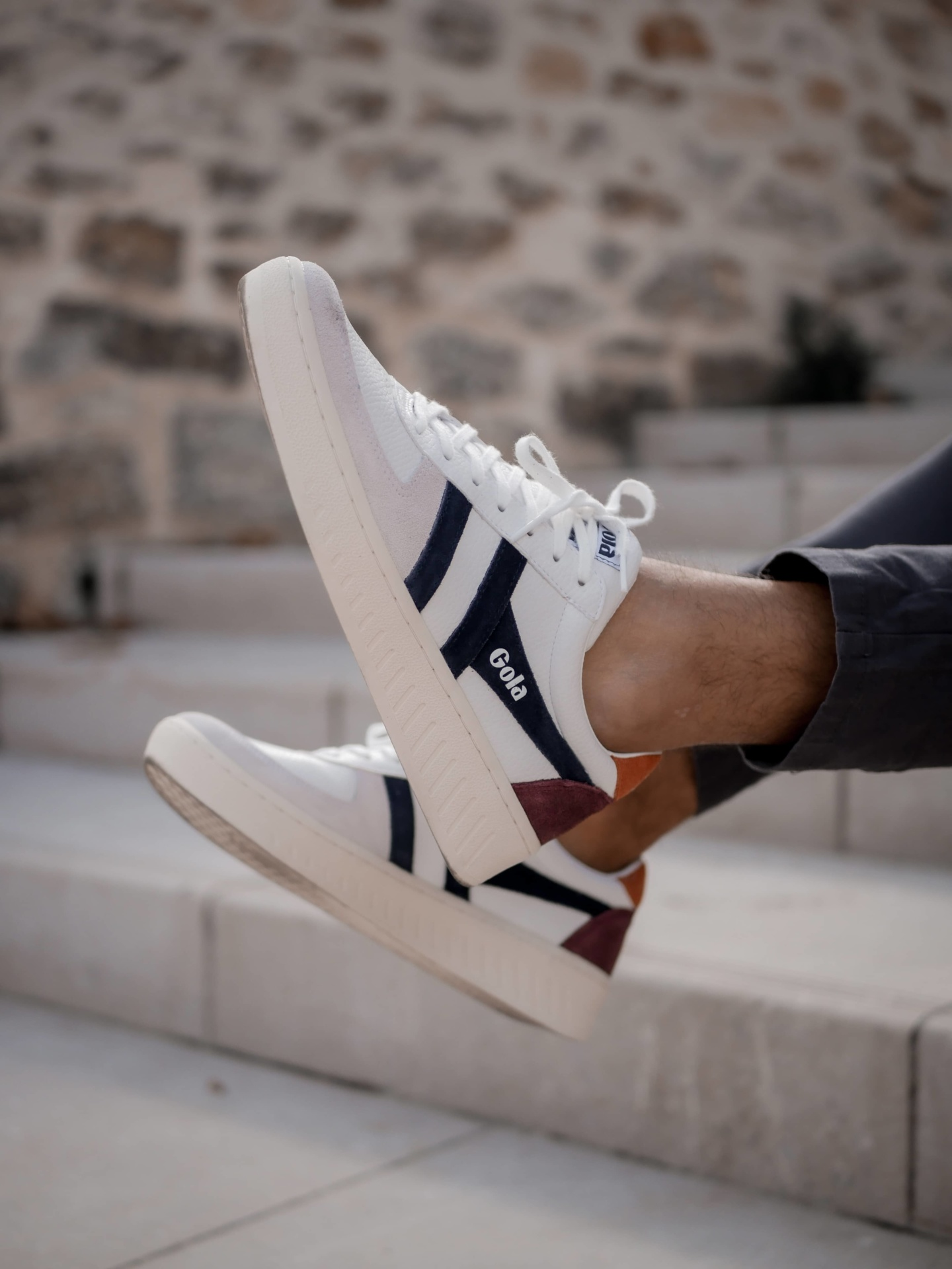 Gola GrandSlam Trident White Navy Moody Orange